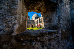 The Historic Old West Spanish Mission San Jose, Founded in 1720, Stock Photo