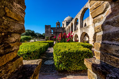 The Historic Old West Spanish Mission San Jose, Founded in 1720. Interesting View of the Courtyard of the Historic Old West Spanish Mission San Jose, Founded in Stock Photography