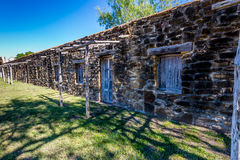 The Historic Old West Spanish Mission San Jose Old Housing Area Royalty Free Stock Photo