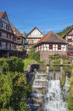 The historic old winepress with weir in Reichental Stock Photography