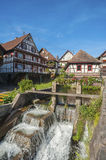 The historic old winepress with weir in Reichental Stock Photo