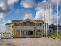 Historic old wooden house in Lysekil, Sweden Stock Image