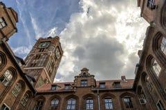 Oldtown of Torun in Poland stock photos