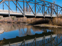 Historic one lane bridge in Verdi, Nevada Royalty Free Stock Photo