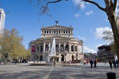The historic opera house of Frankfurt  (Germany). Royalty Free Stock Photo