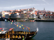 HISTORIC OPORTO RIVER VIEW Royalty Free Stock Photography