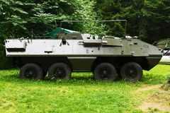 Historic OT-64 SKOT Wheeled Amphibious Armored Personnel Carrier. Stock Photo