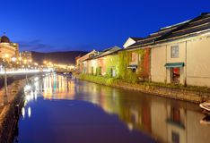 Otaru Canals of Japan royalty free stock images
