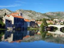 Historic Ottoman Arslanagic bridge in Trebinje Stock Image