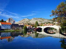 Historic Ottoman Arslanagic bridge in Trebinje Royalty Free Stock Image