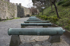 Historic ottoman cannon. Historical ottoman cannon. Used at the conquest of istanbul Royalty Free Stock Photos