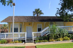 Historic 1900 Pablo Beach Florida East Coast Railway Foreman's House #93,Beaches Museum,2015 Royalty Free Stock Image