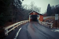 The historic Pack Saddle bridge in rural Pennsylvania Royalty Free Stock Photography
