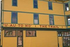 Historic Pack Train Building in Skagway, Alaska Stock Images