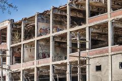 The Historic Packard Motor Company Factory. DETROIT, MICHIGAN - APRIL 28, 2019:  The historic Packard Motor Company factory was once one of the largest factories stock image