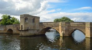 The Historic Pacrkhorse Bridge at St Ives Cambridgeshire royalty free stock photos