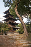 The historic pagoda in Kyoto stock photos