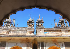 Historic Paigah tombs in Hyderabad, India. Detail architecture of historic Paigah tombs in Hyderabad, India stock images