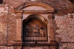Historic painting in Perugia. Historic painting in an ancient wall in perugia Royalty Free Stock Photo