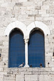 Historic palace in Bevagna, window Royalty Free Stock Photography