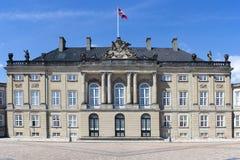 Historic palace in Copenhagen, Denmark. King Christian VII Palace in Amalienborg, Copenhagen, Denmark Stock Images