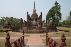 Historic of Palace. Former Palace and historic Buddha at Thailand Royalty Free Stock Image