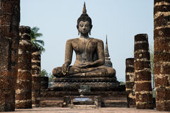 Historic of Palace. Former Palace and historic Buddha at Thailand Royalty Free Stock Photography