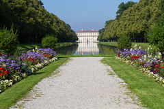 Historic palace and garden near Munich Royalty Free Stock Photo