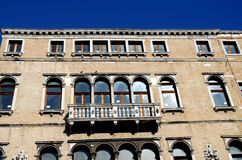 Historic palace on the Grand Canal in Venice in Italy Royalty Free Stock Photo