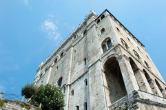 Historic palace in Gubbio town Umbria Stock Photography