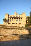 Historic palace in Palma de Majorca, Majorca Island, Spain Royalty Free Stock Photos