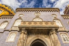 Historic palace of Pena in Portugal. Royalty Free Stock Images