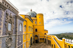 Historic palace of Pena in Portugal. Royalty Free Stock Photos