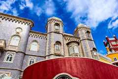 Historic palace of Pena in Portugal. Royalty Free Stock Photography