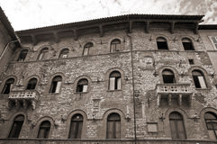 Historic Palace. Perugia. Umbria. Stock Photography