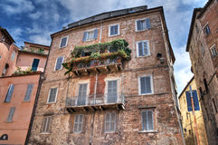 Historic palace. Perugia. Umbria. Stock Image