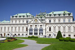 Historic palace Upper Belvedere, Vienna, Austria Royalty Free Stock Photo