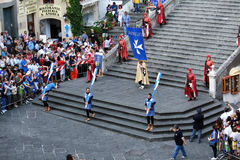 Historic parade at amalfi Royalty Free Stock Photography