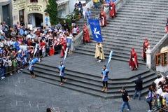 Historic parade at amalfi Royalty Free Stock Photography