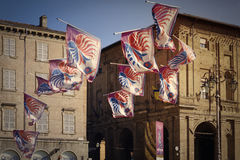 Historic parade in Parma Stock Images