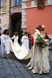 Historic Parade in Taggia royalty free stock photography