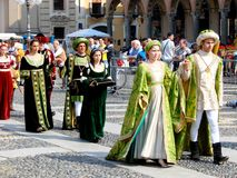 Historic parade in Vigevano Royalty Free Stock Image
