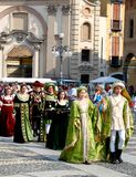 Historic parade in Vigevano Stock Photo