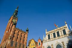 Historic Part of Gdansk. Historic buildings in Gdansk, Pomerania, Poland Royalty Free Stock Images