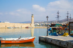 Historic part of Rethymnon, town in Crete Royalty Free Stock Photo