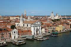 Venice seen from cruise stock images