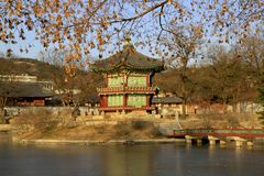 A historic pavillion in Seoul, Korea. Stock Images