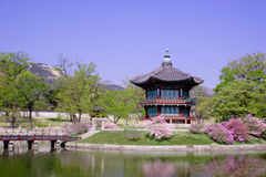 A historic pavillion in Seoul, Korea. An old historic pavillion at Kyoungbok Palace in Seoul, Korea Royalty Free Stock Photography