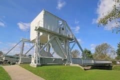 Pegasus Bridge, Normandy. Historic Pegasus bridge from the Normandy landings stock images