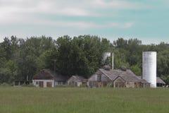 Historic Penitentiary Dairy Farm Buildings. Dilapidated buildings on the old penitentiary dairy farm in Idaho Stock Photos
